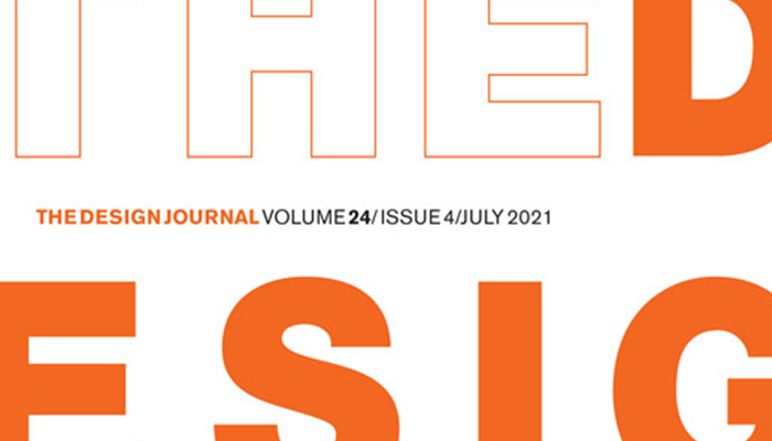 Front cover of design journal